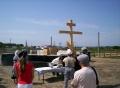 В Верх-Обском освятили фундамент храма 4