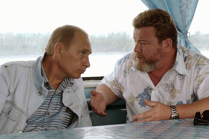Владимир Путин и Михаил Евдокимов в 2003 году в Верх-Обском
