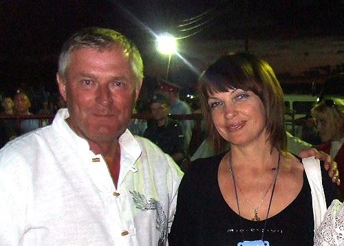 Виктор Сурков и Галина Евдокимова на празднике в Верх-Обском в 2007 году.