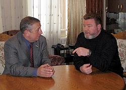 Николай Харитонов поддержал Михаила Евдокимова на губернаторских выборах в 2004 году
