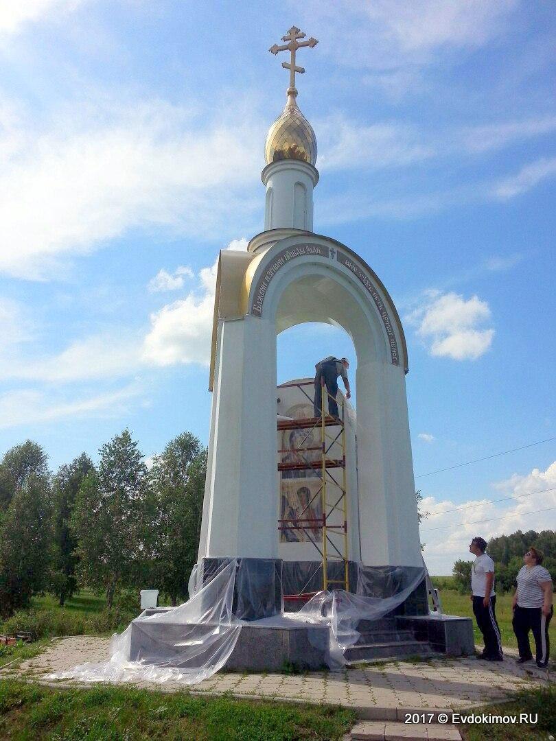 Реконструкция часовни на месте гибели Михаила Евдокимова. Идут работы