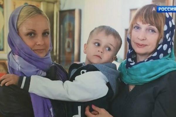 Дочь Михаила Евдокимова Анна с сыном и мамой.
