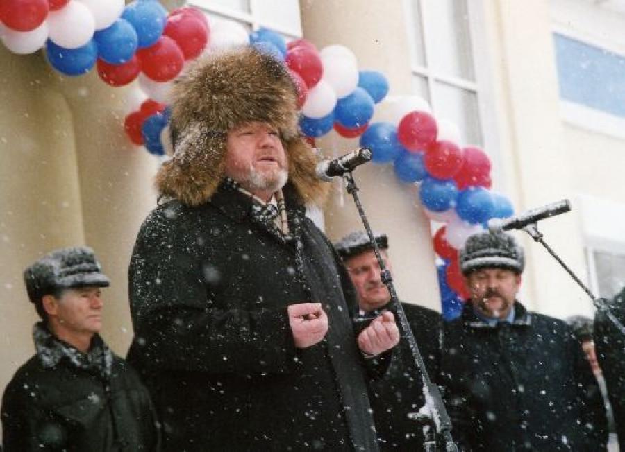 Михаил Евдокимов открывает вокзал в Рубцовске. Фото Анны Зайковой.
