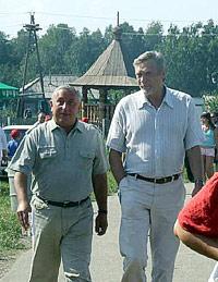 Николай Харитонов и Александр Михайлов в Верх-Обском