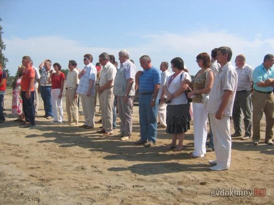 31 июля 2008 г. Освящение закладки храма 5
